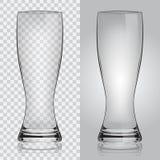 透明啤酒杯 免版税图库摄影