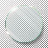 透明圆的圈子传染媒介现实例证 平面镜圈子 玻璃板 透明度 透镜火光 向量例证