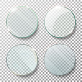 透明圆的圈子集合传染媒介现实例证 平面镜圈子 玻璃板 皇族释放例证
