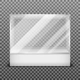 透明在方格的背景传染媒介例证隔绝的显示玻璃箱子 免版税库存照片