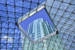 透明屋顶在里茨卡尔顿旅馆,北京,中国 免版税库存照片