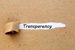 透明度-在被撕毁的包装纸下的打印的文本 图库摄影