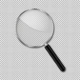 透明扩大化玻璃传染媒介 免版税库存图片
