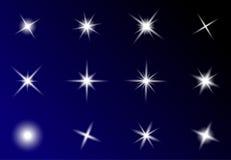 透明星传染媒介标志象设计 美丽的illustrati 库存例证