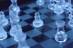 透明棋的典当 免版税库存图片