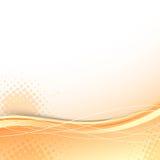 透明橙色波浪背景模板 免版税库存图片