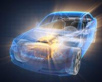 透明汽车的概念 库存照片