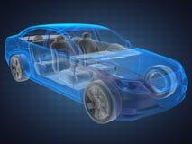 透明汽车的概念 库存图片