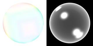 透明泡影的肥皂 库存照片