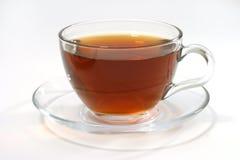 透明玻璃热里面的茶 库存图片