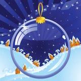 透明球的圣诞节 免版税库存图片