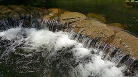 透明的微型瀑布 库存图片