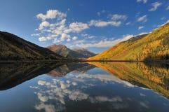 透明的湖水 免版税库存照片