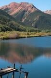 透明的湖水 库存照片