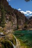 透明的湖水 库存图片