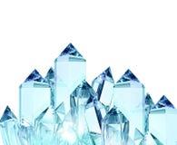 透明的玻璃锋利的块 向量例证