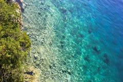 透明的绿松石水 库存照片
