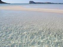 透明的水在盐水湖 免版税库存图片