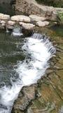 透明的水瀑布 库存图片