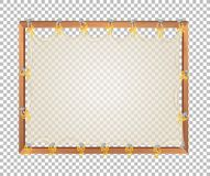 透明空白的木板 向量例证