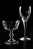 透明空的杯子 免版税库存图片