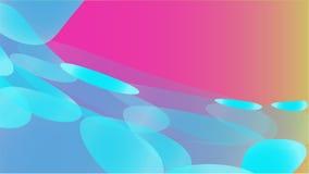 透明蓝色抽象容量时兴的不可思议的一级风天线被雕刻的圈子,弯曲的线,在pu的菱形纹理  向量例证