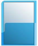 透明蓝色的文件夹 库存图片