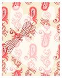 透明蜻蜓的重点 图库摄影