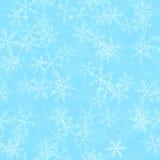 透明雪花无缝的样式 免版税图库摄影