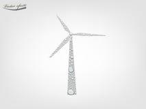 从透明水下落传染媒介的风轮机 免版税库存图片