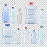 透明水塑料干净的瓶3d现实容器桶加仑模板集合传染媒介例证公司 皇族释放例证