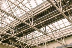 透明玻璃的屋顶 库存照片