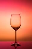 透明玻璃酒杯 免版税库存照片