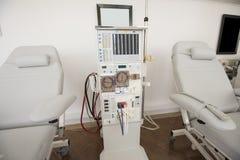 透析机在一个医疗中心 图库摄影