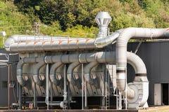 透气工厂设备 库存照片