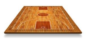透视与线的篮球场地板在木纹理背景 也corel凹道例证向量 向量例证