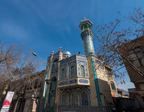 透视射击了许多清真寺之一在德黑兰,伊朗 库存图片