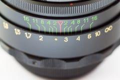 透镜。特写镜头。 库存图片