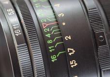 透镜。特写镜头。 免版税库存图片