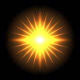 透镜火光传染媒介背景55 免版税图库摄影
