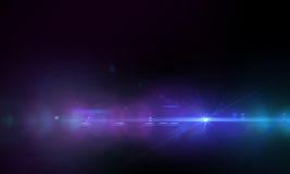 透镜火光作用 图库摄影
