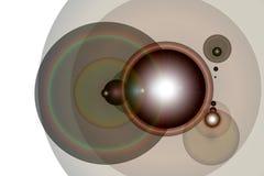 透镜火光 库存照片