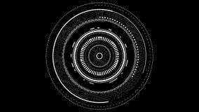 透镜焦点接口图表 库存例证