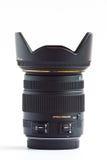 透镜DSLR的缩放正常。 免版税库存照片