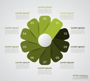 逐步infographic 库存照片