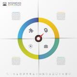 逐步Infographics与尖 到达天空的企业概念金黄回归键所有权 向量 库存图片
