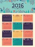 2016逐年日历新年 库存图片