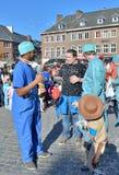 逐年狂欢节在尼韦尔,比利时 库存照片