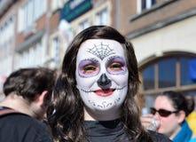 逐年狂欢节在尼韦尔 库存照片