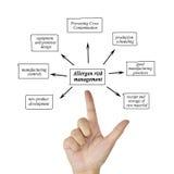 递变态反应原事务的co风险管理的文字元素 免版税库存照片